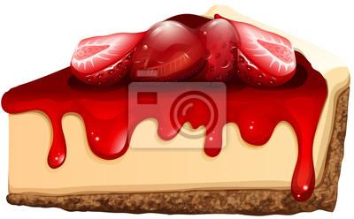 Fototapeta Strawberry sernik z dżemem