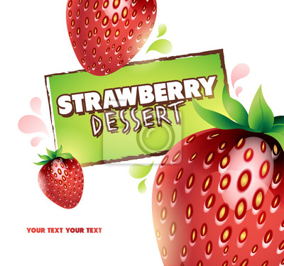 Strawberry tle. Vector ilustracji dla projektu