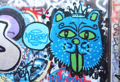 Fototapeta Street art - Król Lew