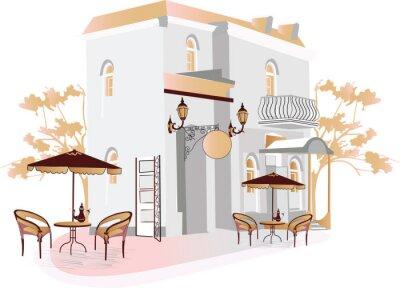 Fototapeta Street cafe