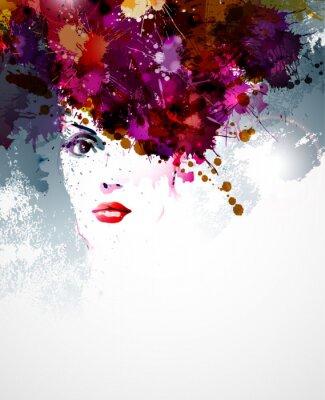 Fototapeta Streszczenie artystycznego jasnych kolorach