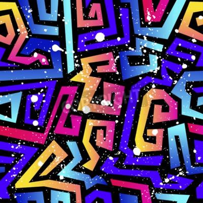 Fototapeta Streszczenie bezszwowe wektor wzór dla dziewcząt, chłopców, ubrania. Kreatywne tło z kropkami, figur geometrycznych. Śmieszne tapety na tekstylia i tkaniny.