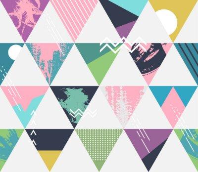 Fototapeta Streszczenie bezszwowych geometryczne tle