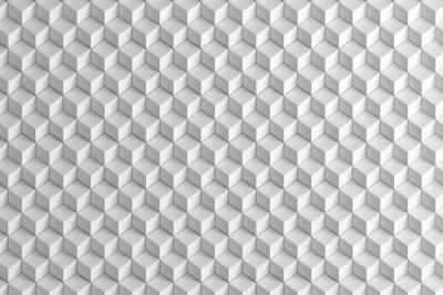 Fototapeta Streszczenie białe pola schody tekstury tła 3D