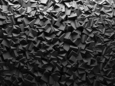 Fototapeta Streszczenie ciemne tło chaotyczne Kształty Cube.