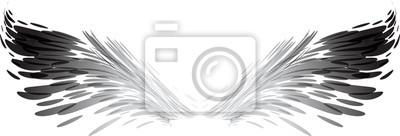Fototapeta Streszczenie czarno-białe skrzydła
