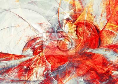 Streszczenie czerwona kompozycja ruchu. Nowoczesne jasne futurystyczne dynamiczne tło. Sztuka fraktalna dla kreatywnego projektowania graficznego