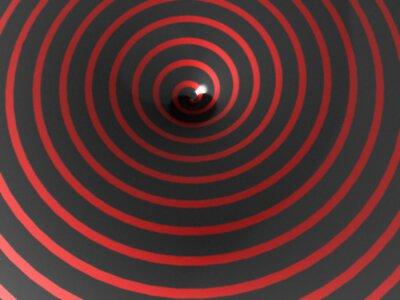 Fototapeta Streszczenie czerwona spirala