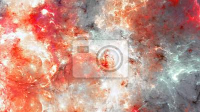 Streszczenie dynamiczne t? O w kolorze czerwonym, szarym i bia? Ym. Futurystyczny jasny dym tekstury dla kreatywności projektowania graficznego. Płomień wzór z efektem oświetlenia. Fraktalna grafika d