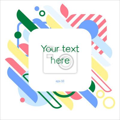 Streszczenie dynamiczne t? Oz ramki. Geometryczne kształty ruchu. Kolorowy wzór na projekt okładki, plakat, pozdrowienie karty, biznes, dekoracja. Ilustracji wektorowych.