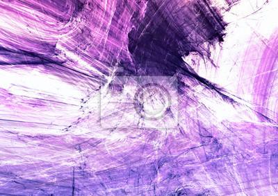 Streszczenie fioletowy kolor malowania tekstury. Jasne tło artystyczne. Nowoczesny wielokolorowy dynamiczny wzór. Fraktalna grafika do kreatywnego projektowania graficznego