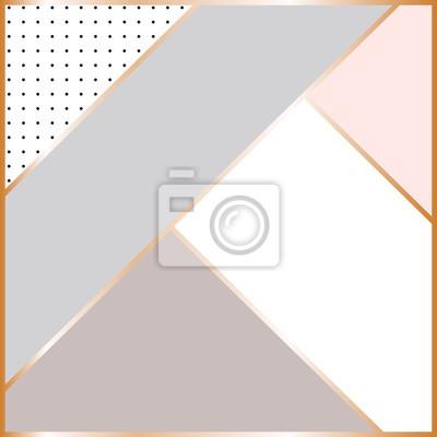 Streszczenie geometrycznej kompozycji. Skandynawskie tło. Rę cznie rysowane kropki i elementy geometryczne. Nowoczesny i stylowy plakat abstrakcyjny, okładka, projekt kart.
