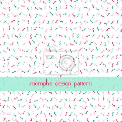 Streszczenie geometryczny wzór w stylu memphis. Może być używany w drukowaniu, tło strony internetowej.