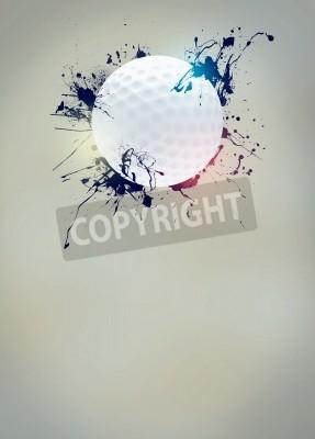 Fototapeta Streszczenie golf sport, plakat lub ulotka zaproszenie tle z pustej przestrzeni