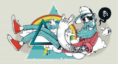Fototapeta Streszczenie graffiti hipster