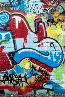 Fototapeta Streszczenie graffiti na ścianę z teksturą