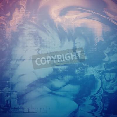 Fototapeta Streszczenie grunge. Z różnymi wzorami kolorów: niebieski; szary; fioletowy (fioletowy); cyjan; różowy