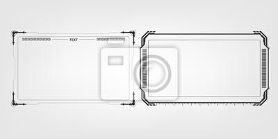 Fototapeta streszczenie hi tech futurystyczny szablon projektu układu tło