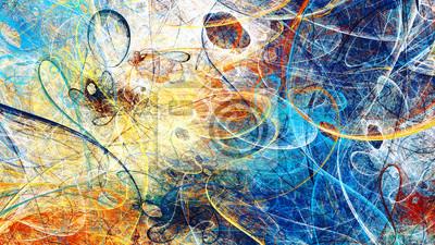 Streszczenie jasny kolor kompozycji. Nowoczesne futurystyczne dynamiczne tło. Multicolor artystyczny wzór farb. Fraktalna grafika do kreatywnego projektowania graficznego