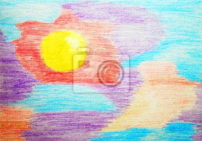 Streszczenie kolor akwarela pensil malarstwa.