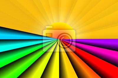 Streszczenie kolor kształt pasek promień słońca