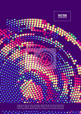 Streszczenie kolor retro futurystycznym tle. Minimalny układ okładki dla ulotki firmowej, biznesowej, broszury, broszury, plakatu, bannera, ulotki. Wektor