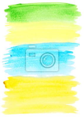 Streszczenie kolorowe pociągnięcia pędzla akwareli