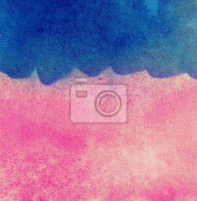 Streszczenie kolorowe tło akwarela, niebieskie fale