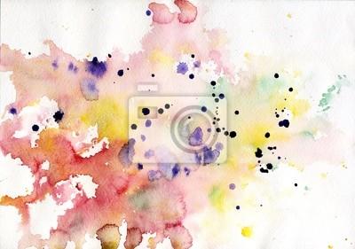 Streszczenie kolorowe tło akwarela różowy