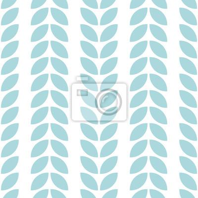 Streszczenie kwiatowy wzór bez szwu. Geometryczne liście w stylu skandynawskim. Tapeta wektor