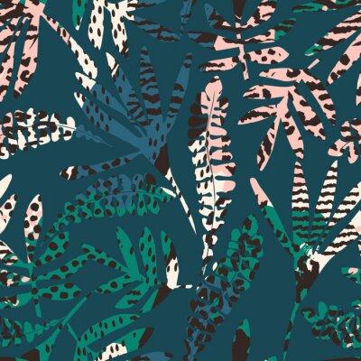 Fototapeta Streszczenie kwiatowy wzór z modnych ręcznie rysowane tekstury.