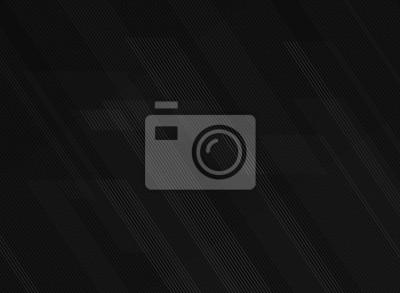 Fototapeta Streszczenie linii wzór technologii na tle czarnego gradientu.