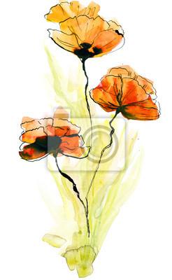 Streszczenie malowane tła kwiatu