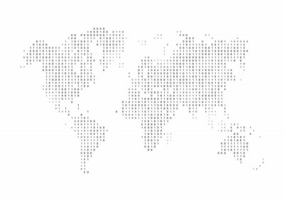 Fototapeta Streszczenie mapa składa się z liczb
