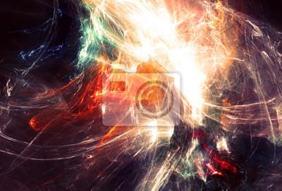 Streszczenie neon szlak. Świecące futurystyczny dynamiczny kolor tła z mocą oświetlenia dla kreatywnego projektowania. Błyszczące ozdoby dla tapet pulpitu, plakat, okładkę broszury, ulotki. sztuka fra