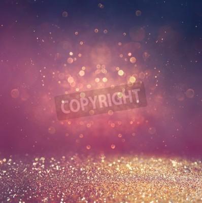 Fototapeta Streszczenie niewyraźne zdjęcie bokeh światła serii i tekstur. wielokolorowe światła.