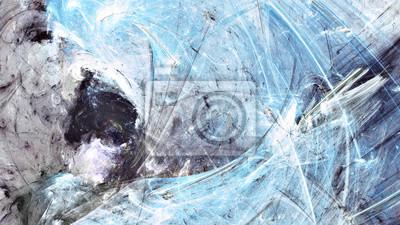 Streszczenie pi? Kne niebieskie, szare i bia? E lodowate t? O mi? Kkiej kolorze. Malowanie na zimno. Nowoczesny futurystyczny chłodny wzór zimowy. Fraktalna grafika do kreatywnego projektowania grafic