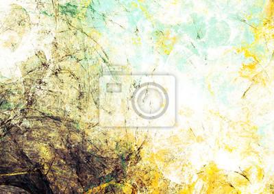 Streszczenie retro kolor tła. Grunge futurystyczne żółty i szary tekstury artystycznego dla tapety, ulotki, broszury, plakaty okładki. Fractal wzór dla kreatywnego projektowania graficznego.