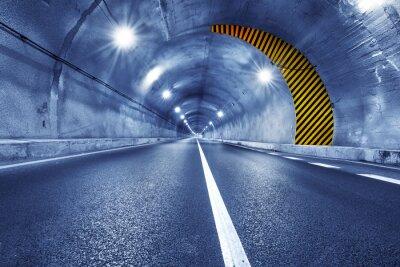 Fototapeta Streszczenie samochód na torze tunelu