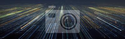Fototapeta Streszczenie światła miasta prędkości ruchu