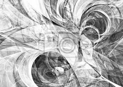 Streszczenie szare i bia? E kompozycje ruchu. Nowoczesne futurystyczne jasne tło dla tapet, wnętrza, okładka ulotki, plakat, transparent, broszura. Sztuka fraktalna dla kreatywnego projektowania grafi