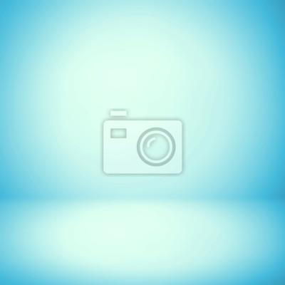 Fototapeta Streszczenie tekstury tła światła niebieskiego i szary gradient ścianie, płaska podłoga. do produktu.