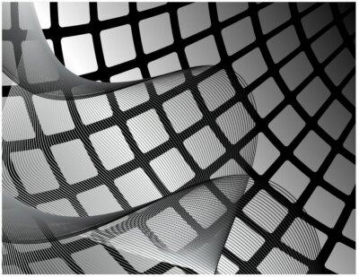 Fototapeta Streszczenie tle czerni i bieli