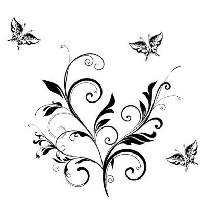Fototapeta Streszczenie tle kwiatów na białym tle ..