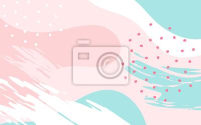 Fototapeta Streszczenie tło z ręcznie rysowane tekstury, styl Memphis