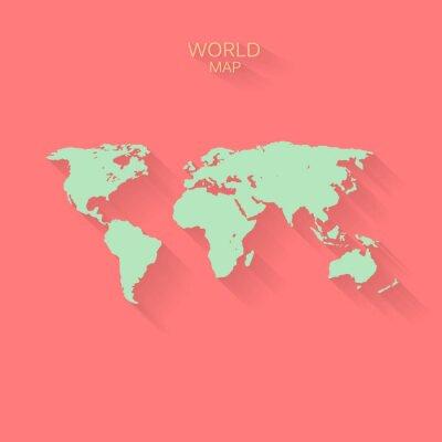 Fototapeta Streszczenie wektora tle mapy świata z płaskiej konstrukcji