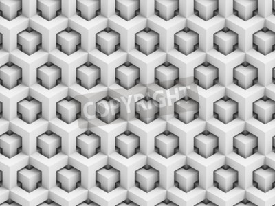 Fototapeta Streszczenie wielokątny 3D bezszwowych deseń - geometryczne tło struktury pola