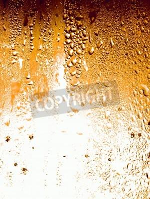 Fototapeta Struktura powierzchni zimnego piwa szkła w tle