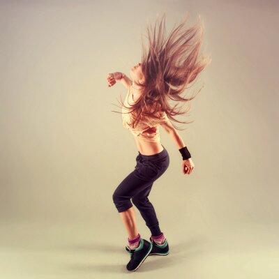Fototapeta Studio strzelać aktywnych kobiet funk jazz tancerz w ruchu.