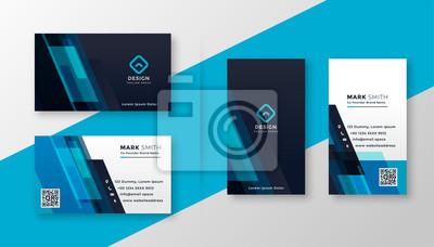 Fototapeta stylish blue elegant business card design